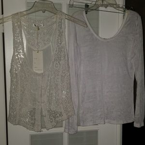 Very cute tee shirt and vest set